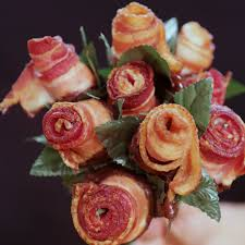 how to make a bacon rose bouquet video popsugar food