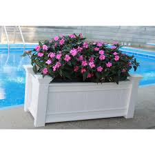 vinyl planters pots u0026 planters the home depot