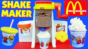 mcdonalds shake maker happy meal magic ice cream shakes toy food