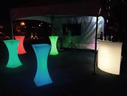 Led Bistro Table Rent Led Lit Bistro Tables In Malta Malta Rentals Directory