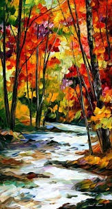 swirling palette knife painting on canvas paintings