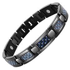 magnetic bracelet tool images Blue carbon fiber titanium magnetic bracelet jpg