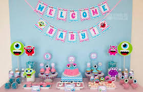 monsters inc baby shower decorations contemporary ideas baby shower smart inspiration 12 small