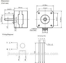 reprap 3d printer nema17 stepper motor model jk42hs34 1334ac with
