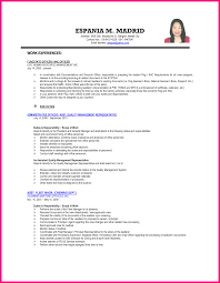exle of resume for a exle resume format for ojt fishingstudio