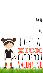 sports valentines printables candy free valentine ideas