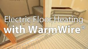 Laminate Floor Heating Electric Floor Heating With Suntouch Warmwire Youtube