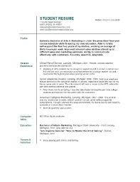sample high resume for college admission resume for college