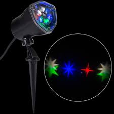 Christmas Outdoor Motion And Light Projector by Lightshow Led Projection Whirl A Motion Stars Rgbw Stake Light