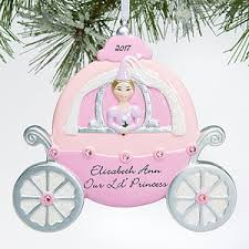personalized christmas ornament for girls princess carriage