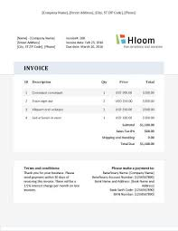 Landscaping Invoice Template by 19 Blank Invoice Templates Microsoft Word