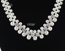 diamond pearl necklace images Indian jewellery design 2016 diamond and pearl necklace jpg