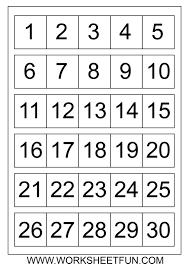 printable numbers 1 31 free calendar template