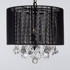 gallery lighting sm 604 3 3 light crystal chandelier with black