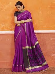 purple silk blouse silk saree with blouse 121754