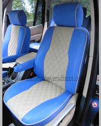 blue range rover vogue range rover vogue blue u0026 cream seat covers car seat covers direct