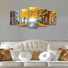 livingroom paintings amazon com wieco art autumn love modern framed giclee canvas