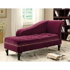 Tufted Leather Chaise Chaise Lounges Cymax Stores