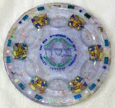 passover plate seder plate made seder plate passover seder plate pesach