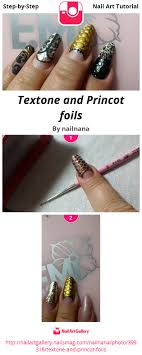tutorial nail art foil textone and princot foils nail art gallery step by step tutorial