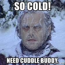 Cuddle Buddy Meme - so cold need cuddle buddy freezing guy meme generator