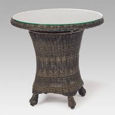 wicker side table with glass top 49 best outdoor wicker end tables images on pinterest coffee