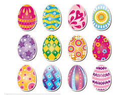paper easter eggs printable stickers of easter eggs free printable papercraft