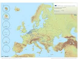Europes Map by Trans European Transport Network Tentec Maps European Commission