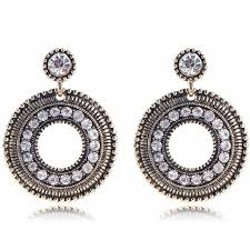 earrings for women aliexpress buy yayi white glass rhinestone earring women s