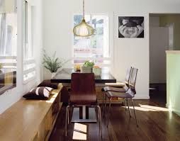 custom bench cushions dining room modern with custom cabinetry