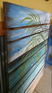 sale large reclaimed wood pallet painted seascape