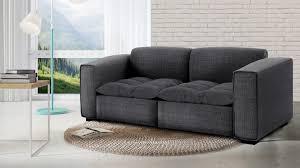 assise canape canapé 2 places avec assise tissu matelassée et 2 coussins