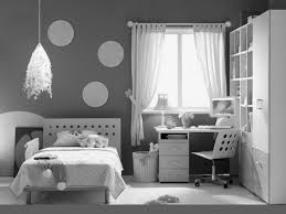 dark gray modern teenage bedroom with corner desk also