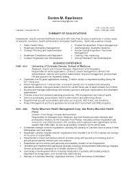 Healthcare Executive Resume Examples by Public Administration Resume Virtren Com