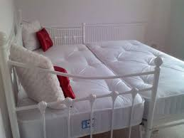 bedroom stunning design ideas using rectangular white iron double
