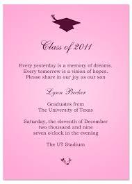 ideas graduation invitation announcement pink word