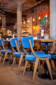 blue suede chairs cafe coffeeshop tearoom pinterest blue