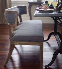 dining setd table with bench curved upholstered seating beautiful