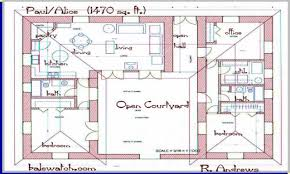 courtyard house plan imposing large size u shaped house plans along with in courtyard