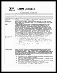 Electricians Resume Sample Resume For Electrical Technician Resume Electrical