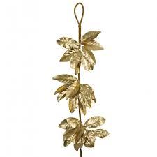 magnolia leaf garland 5 magnolia leaf garland metallic gold 82728gd craftoutlet