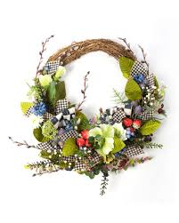 mackenzie childs berries blossoms wreath