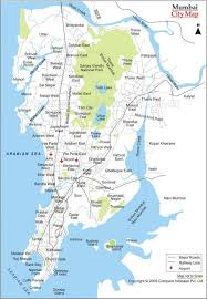 Sea Airport Map Map Mumbai Bombay On Map Maharashtra India