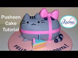 how to make a pusheen cake cómo hacer una torta de pusheen youtube