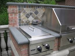 outdoor kitchen backsplash ideas outdoor kitchen bbq design installation bergen county nj