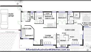Single Story Four Bedroom House Plans 4 Bedroom House Plans Medium Size Of Beauteous Plan Preview