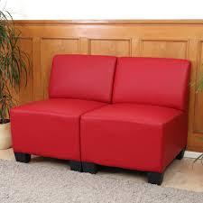 sofa ohne armlehne modular 2 sitzer sofa lyon kunstleder ohne armlehnen