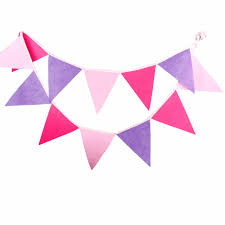 Purple Flag 12 Flags 3 2m Handmade High Quality Pink And Purple Banner Bunting