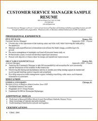 Resume Templates Customer Service Customer Service Manager Resume Template Resume Template And