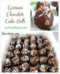 german chocolate cake balls